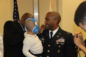 While LTC Cornelius was being pinned, Avon III supervised the event.