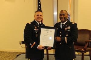 LTC Cornelius receives the promotion ceremony.