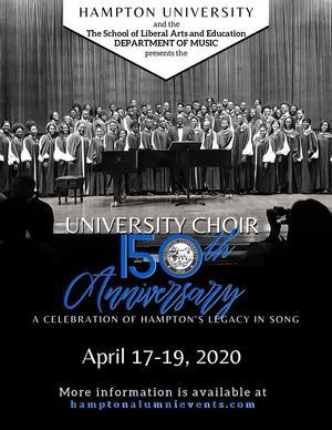Celebrate the 150th Anniversary of the Hampton University Choir, April 17-19