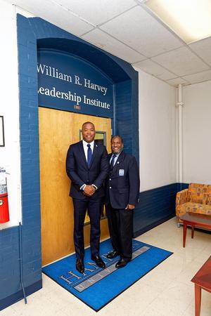 Councilmember Aaron Rouse with Dr. Jarris Louis Taylor, Jr.