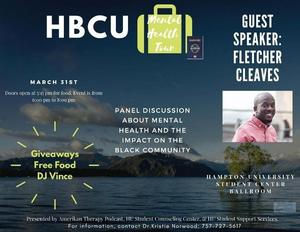 Hampton University Student Counseling Center to Host Inaugural HBCU Mental Health Tour, March 31