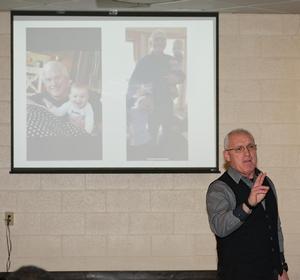 Chris Clark speaks at the William R. Harvey Leadership Institute Meet the Leaders Lecture Series