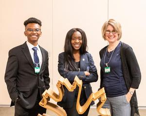 Jarrett Thomas, Jai Huntley and Professor Laura Battaglia