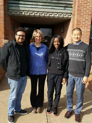 Amir Azerjerdian, Laura Battaglia, Jai Huntley and Dr. Jeehwan Lee