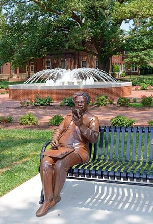 Mary Jackson statue in Hampton University's Legacy Park