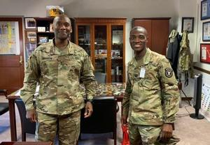 MG Brunson, left and CPT Criss on the right