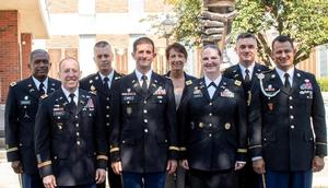 COL Hoggard standing among his fellow Army War College colleagues.