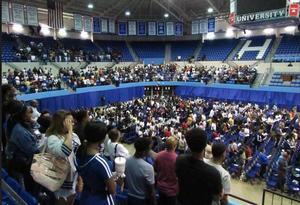Students, faculty, and staff at Opening Welcome at Convocation Center