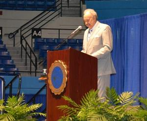 Dr. William R. Harvey gives orientation address at Opening Session