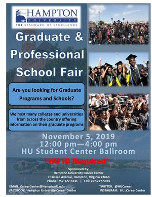 Check out the Career Center's annual Graduate and Professional School Fair, November 5