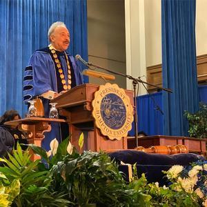 Hampton University President, Dr. William R. Harvey