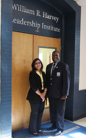 Marisa Porto and Dr. Jarris Louis Taylor, Jr., Director of the William R. Harvey Leadership Institute