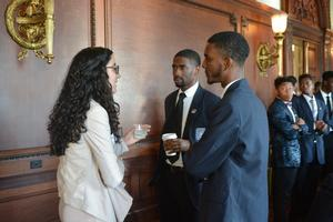 Hampton University and Liberty University students interacting at the Fall Washington, D.C. Symposium