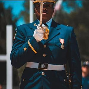 Casey Blowe, Ensign (0-1) of the United States Coast Guard Ceremonial Honor Guard