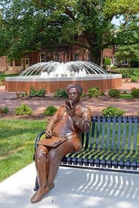 Mary Jackson statue in Hampton University's Legacy Park