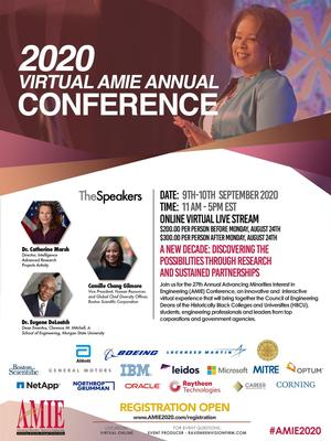 Hampton University to Participate in the 2020 Virtual Advancing Minorities' Interest in Engineering Conference, September 9-10
