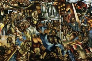 """""""The Contribution of the Negro to Democracy in America,"""" 1943. Charles White (1918 – 1979) Credit...Collection of the Hampton University Museum, Hampton, Va."""