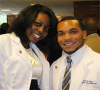 HU Pre-Medical Alumni - Aaryn Harrison and Jeffery Eugene at Morehouse School of Medicine