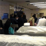Participants touring the Cadavar Lab at Howard Medical School.
